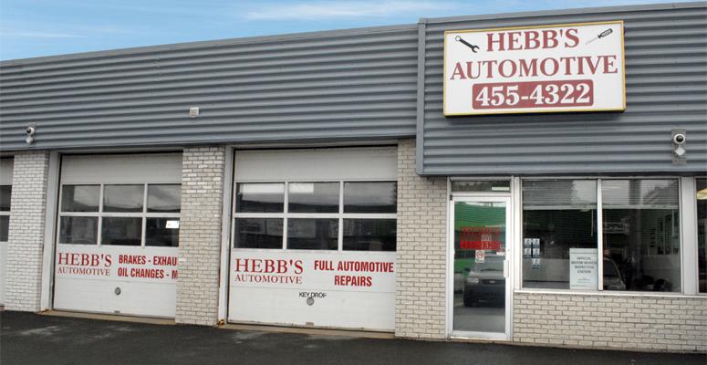 Hebb's automotive store front